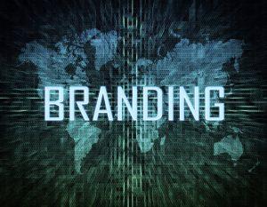 Branding text concept